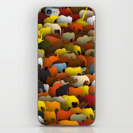 Elephants go left iPhone Skin