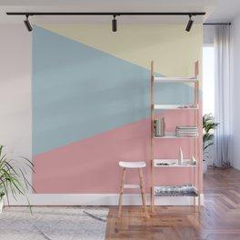Modern geometric design pastel colors pink yellow blue Wall Mural