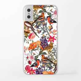 Floral and Birds XXXIII Clear iPhone Case