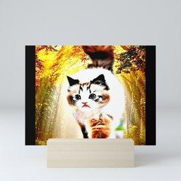 Cat Models: Sebastian Mini Art Print