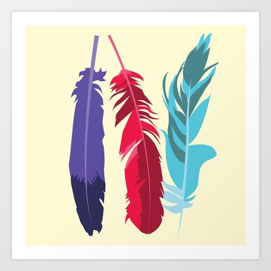 Indie Feathers  Art Print