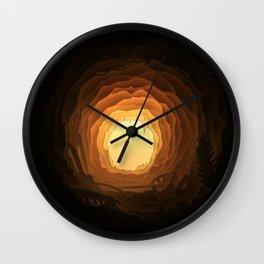 Cave, Papercut lightbox Wall Clock