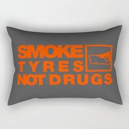 SMOKE TYRES NOT DRUGS v6 HQvector Rectangular Pillow