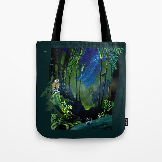 Silent Night in the New Zealand Forest Tote Bag