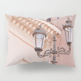 Pink Details In Marrakech | Pastel Colors Of Kasbah Mosque Photo Art Print | Morocco Travel Photography Pillow Sham