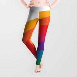 Retro Bright Rainbow - Left Side Leggings