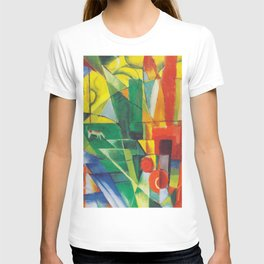 """Franz Marc """"Landscape with House and Two Cows (also known as Landscape with House, Dog and Cattle)"""" T-shirt"""