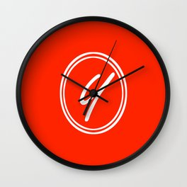 Monogram - Letter Y on Scarlet Red Background Wall Clock