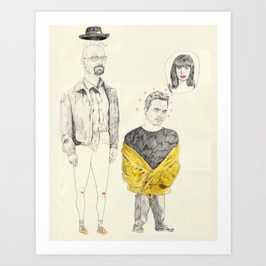 walt and jesse Art Print