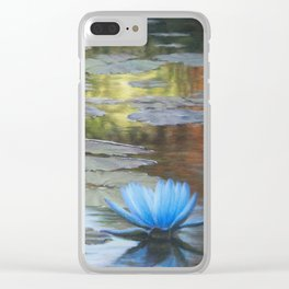 Water Lilies Afloat Clear iPhone Case