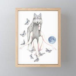 Blue Moon Framed Mini Art Print