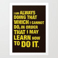 Do it. Art Print
