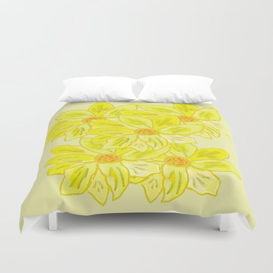 Painted Flower Duvet Cover
