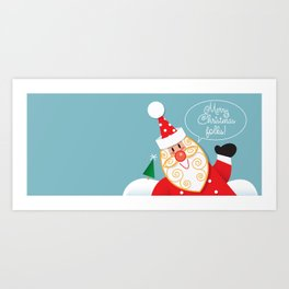 Santa mug Art Print