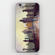 Prague, watercolor explorations in violet  iPhone & iPod Skin