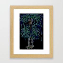 Neon Sally Rand Framed Art Print