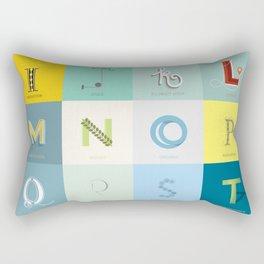 Sustainability Alphabet Rectangular Pillow