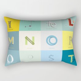 Sustainability Alphabet Rectangular Pillow