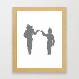 DBZ Goku Vegeta Shadows Framed Art Print