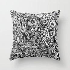Conquer (Black & White Version)  Throw Pillow