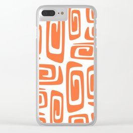 Mid Century Modern Cosmic Abstract 613 Orange Clear iPhone Case