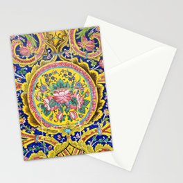 Floral Persian Tile Stationery Cards