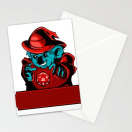 Cartoon koala Wizard Stationery Cards
