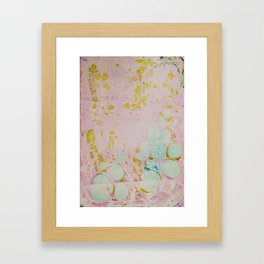 Ginger Root Hand Marbleized Framed Art Print