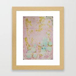Ginger Root Hand Marbleized Framed Art Print