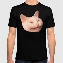 smiling grinning cat meme T-shirt