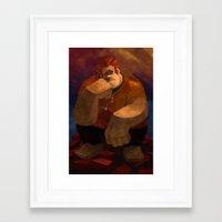 wreck it ralph Framed Art Prints featuring Vermeer Ralph by Zimeta