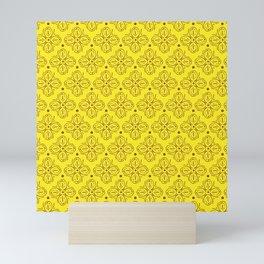 Yellow Batik Abstract Pattern Mini Art Print