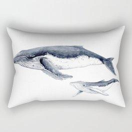 Humpback whale with calf Rectangular Pillow