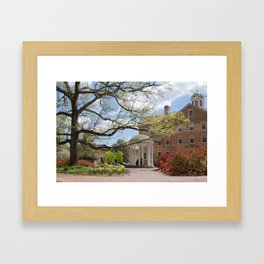 Old Well, Springtime Framed Art Print
