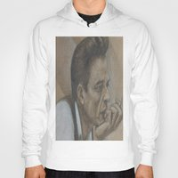 johnny cash Hoodies featuring Johnny Cash by Tex Bigrancher