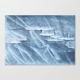 Light steel blue colored wash drawing texture Canvas Print