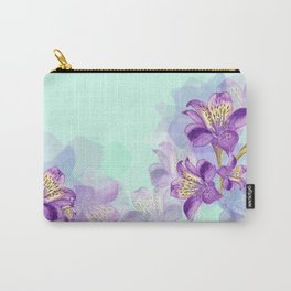 Purple Lilly Carry-All Pouch