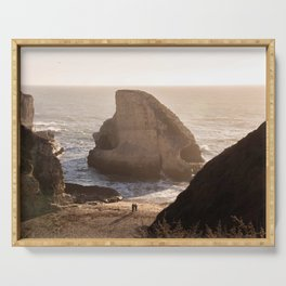 Shark Fin Cove Beach, Davenport California Sunset Photography, Love, Travel  Serving Tray