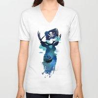 hook V-neck T-shirts featuring Captain Hook by Robert Farkas