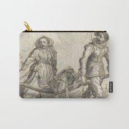 Adriaen Pietersz van de Venne - Man en een vrouw dragen huisraad op een berrie Carry-All Pouch