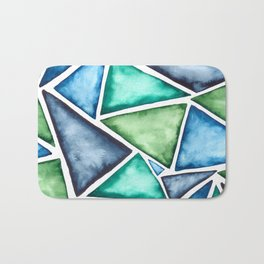 Large scale fragmentation. Watercolor triangles. Bath Mat