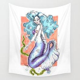 Pastel Mermaid Wall Tapestry