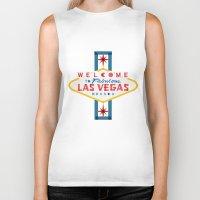 las vegas Biker Tanks featuring Las Vegas by Fimbis