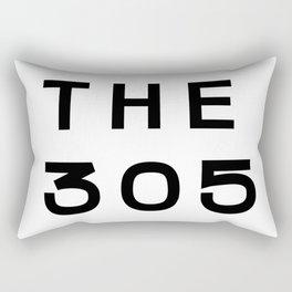 305 Florida Area Code Typography Rectangular Pillow