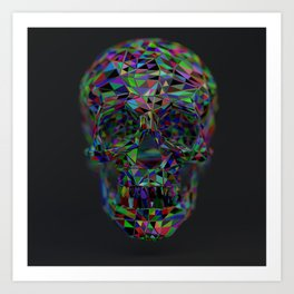 Skull Low-Poly Color Art Print