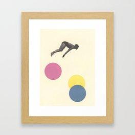 High Dive Framed Art Print