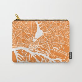 Hamburg map orange Carry-All Pouch