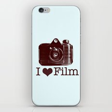 I ♥ Film (Maroon/Aqua) iPhone & iPod Skin