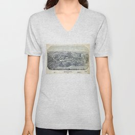 Aerial View of Madison, Connecticut (1881) Unisex V-Neck