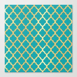 Moroccan Gold & Turqoise Canvas Print